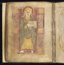 Portrait of St Luke, in an Pocket Gospels